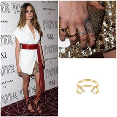 This stunner Cara Delevingne wearing our Gold and Diamond #MidiDagger Ring at a screening of Paper Towns last night in #WestHollywood.  Styled by the power duo Rob & Mariel.  #caradelevingne #papertowns #wsj #RandM #14k #gold #midi #rings #finejewelry #rachelkatzjewelry www.rachelkatzjewelry.com/collections/dagger