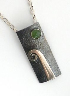 Contemporary New Zealand Jewellery Koru with Pounamu