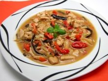 Chili Sauce, Japchae, Thai Red Curry, Ethnic Recipes, Browning, Meat, Food Food, Cooking