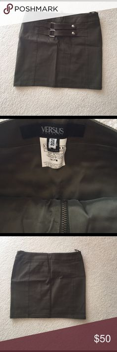 Versus by Versace Olive Green Skirt Cute! Versus By Versace Olive Green Skirt Worn With Love Versus By Versace Skirts Mini