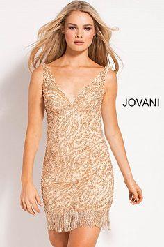 5cf3da47a6c Gold Beaded V Neck Short Dress 51310  ShortDress  PartyDress  GoingOutDress   Jovani Jovani