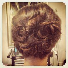 #vintage #wedding #hair
