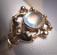 Antique Victorian Moonstone Ring Vintage by AawsombleiJewelry, $995.00