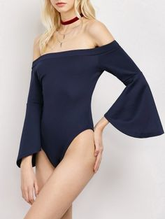SHARE & Get it FREE | Bell Sleeve Off Shoulder BodysuitFor Fashion Lovers only:80,000+ Items • New Arrivals Daily Join Zaful: Get YOUR $50 NOW!
