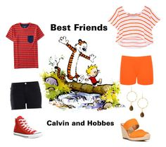 """""""Calvin and Hobbes"""" by sassyladies ❤ liked on Polyvore featuring Aéropostale, Rebecca Minkoff, Love Moschino, WearAll, Panacea, Franco Sarto and Converse"""