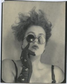 Pinner: I don't know who she is. Found her in the Vintage Photobooth section. I dig this