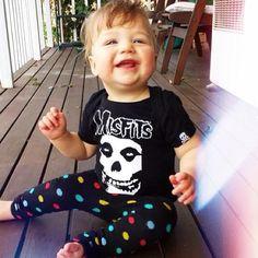 Dustin Quinn-Baby Boy fashion. Misfits sourpuss onesie