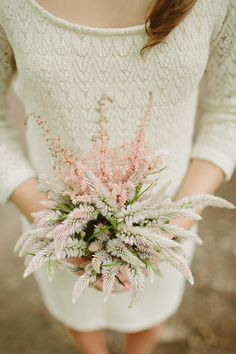 astilbe wedding bouquet   Robin Hood inspired wedding   With Love & Embers Photography   Bridal Musings