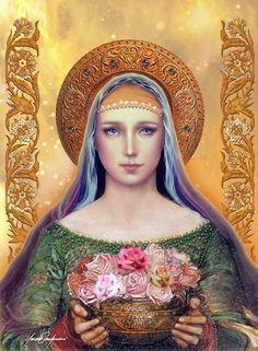 Mother Mary - Mystic Rose by Claudio Gianfardoni