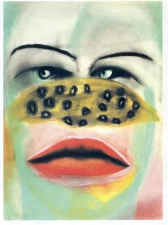 Nose - Paintings Wallpaper Image featuring Francesco Clemente
