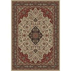 Concord Global Dynasty Ivory Rectangular Indoor Woven Oriental Area Rug (Common: 7 X 10; Actual: 6.58-Ft W X 9.5-Ft L X