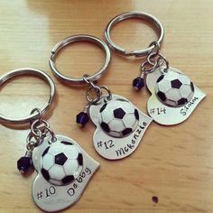 soccer gift christmas gift high school sports keychain volleyball