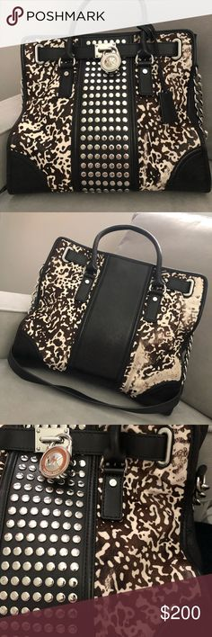 🐮Rare Michael Kors Bag🐮 This is literally a show stopper! The leather on this bag is eons better quality than the average MK bags. Inside looks practically unused. Cowhide certainly has some wear, as anyone knows with cowhide, it is so hard to maintain! With that being said, there are still pleanty of good years left in this beauty! Handles and bottom of bag have absolutely no signs of wear! Michael Kors Bags Satchels
