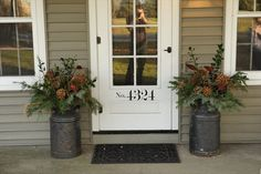 Fresh greens by the door - can hardly wait for the 'fall smell'...