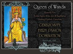 Samhain Tarot 9: Conclusion/Results. Queen of Wands Reversed.