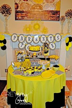 Mommy to Bee Theme Baby Shower Ideas