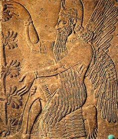 Genio alado ante el árbol sagrado (Kalhu, actual Nimrud)