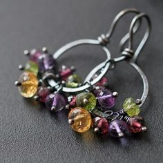 Hey, I found this really awesome Etsy listing at https://www.etsy.com/listing/175786406/gemstone-earrings-citrine-purple