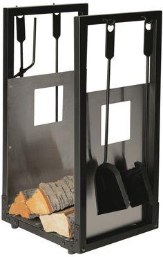 Lienbacher 738.2 Serviteur porte-bûches avec parois en acier inoxydable Noir: Amazon.fr: Bricolage