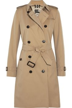 BURBERRY LONDON The Kensington Long cotton-gabardine trench coat $1,895.00 http://www.net-a-porter.com/products/514640