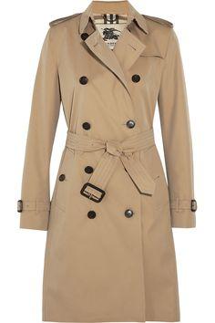 BURBERRY LONDON The Kensington Long cotton-gabardine trench coat $1,895.00 http://www.net-a-porter.com/products/514640