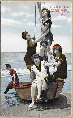 Old Redondo Beach postcard.