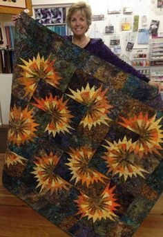 Sunflower Illusions, Quiltworx.com, Made by Beth Hilgert Liotta