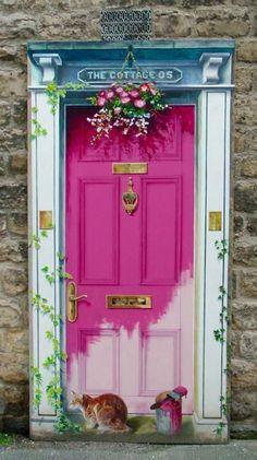 64 new Ideas pink door exterior entrance Cool Doors, Unique Doors, Porte Cochere, Knobs And Knockers, Soothing Colors, Painted Doors, Door Design, Entrance Design, Exterior Design