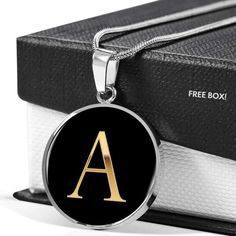😍😍😍This Letter A in Stainless Steel or Gold is the perfect gift for that Daughter,Mom or Best Friend who wants to know they are cherished 💛💛💛    This makes a great gift which can be  worn to any special formal occasion or every day reminding them of the special  person that gave it to them.     Comes with Free High-Quality Custom Gift Box.    100% Satisfaction Guaranteed
