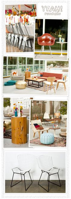 KILLING me that this didn't exist for my wedding — Yeah! Rentals: incredible mid-century furniture and decor rentals