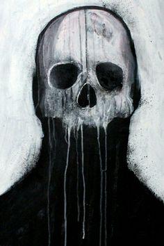 Skull illustration by Mr Four Fingers Arte Horror, Horror Art, Dark Fantasy Art, Dark Art, Satanic Art, Arte Obscura, Skull Illustration, Macabre Art, Skull Art