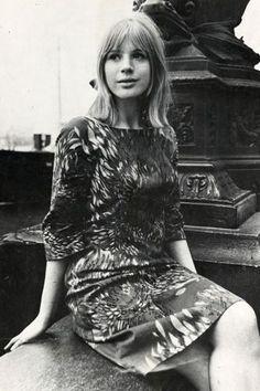 Marianne Faithfull.Mini dresses, fur coats and knee high boots