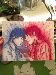 Gerard Way & Frank Iero Frerard original watercolor
