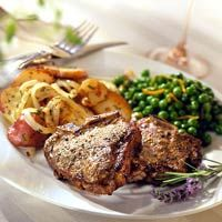 Lamb Chops with Peppercorns and Mustard