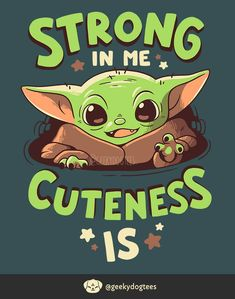 Strong in Me by Geekydog on DeviantArt Star Wars Cartoon, Star Wars Meme, Star Wars Fan Art, Funny Iphone Wallpaper, Star Wars Wallpaper, Cute Disney Wallpaper, Star Wars Baby, Yoda Drawing, Yoda Images