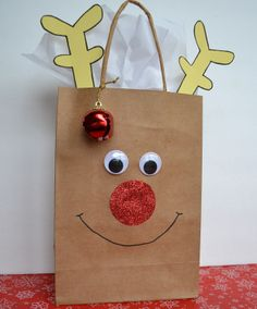 for all occasion and holiday make some gift bags include tissue, bow or ribbon and tag. Christmas Gift Bags, Christmas Wrapping, All Things Christmas, Christmas Art, Christmas Holidays, Christmas Ornaments, Christmas Snowflakes, School Holidays, Preschool Christmas