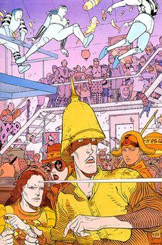 The Airtight Garage of Jerry Cornelius by Moebius. Jean Giraud, Moebius Comics, Moebius Art, Comic Book Artists, Comic Artist, Comic Books Art, Science Fiction, Comic Manga, Ligne Claire