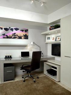Diseño de Interiores & Arquitectura: 40 Ideas Para Diseñar Tu Oficina En Casa  3 estanterías de la misma largura?
