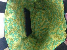 Reversible denim and fabric tote Reversible Tote Bag, Bean Bag Chair, Denim, Fabric, Bags, Furniture, Home Decor, Tejido, Handbags