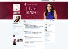 Customed Twitter Social Media Graphics for Susn Sly.com by CI Web Group