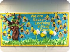 bee classroom | Bulletin Board Inspiration, diy and Pin It Buttons!