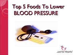 Top 5 Foods To Lower BLOOD PRESSURE