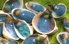 Seashell Babies. Emerson Waldorf School Holiday Faire ~ Chapel Hill, NC ~ November 23, 2013