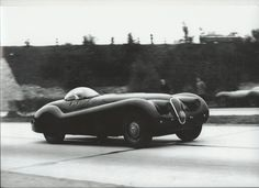 """The """"Jabbeke"""" Jaguar XK 120. If you follow Jaguar history you know that only one Jag ever has held a land-speed record: The 1953 XK120 that hit 172 miles per hour in Belgium under the hands of Norman Dewis."""