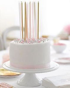anniversaire rose et or : bougies