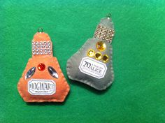 Felt Witch's Potions ornaments