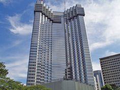 Designed by Kenzo Tange.  Tokyo Akasaka Prince Hotel being demolished.