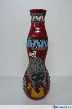 Vaas R.S.M. - keramiek San Marino - Italy - vintage - retro - Te koop