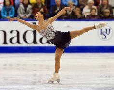 Akiko Suzuki, 2013 Skate Canada,Grey/Blue Figure Skating / Ice Skating dress inspiration for Sk8 Gr8 Designs.