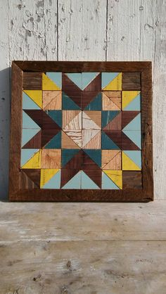 This wooden barn star quilt block was inspired by two things... my deep love of old quilts and my inability to throw away even the smallest